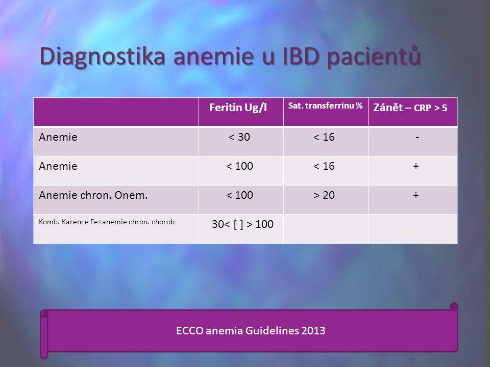 Diagnostika anemie u IBD pacientů