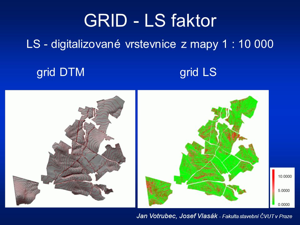 LS - digitalizované vrstevnice z mapy 1 : 10 000