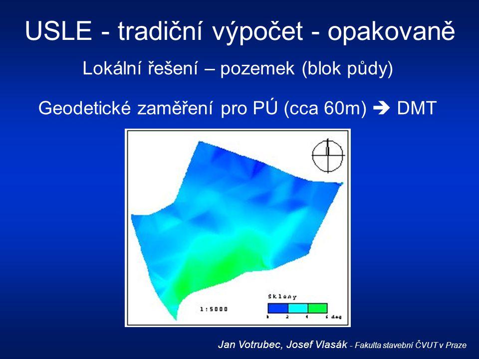 USLE - tradiční výpočet - opakovaně