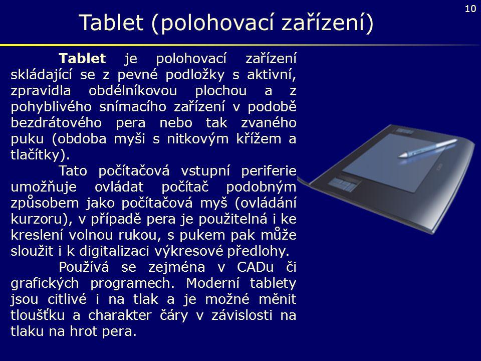Tablet (polohovací zařízení)