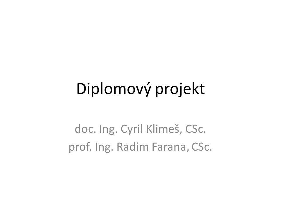 doc. Ing. Cyril Klimeš, CSc. prof. Ing. Radim Farana, CSc.