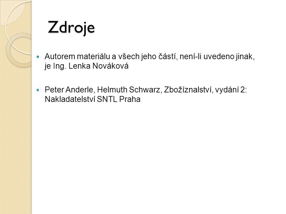 Zdroje Autorem materiálu a všech jeho částí, není-li uvedeno jinak, je Ing. Lenka Nováková.