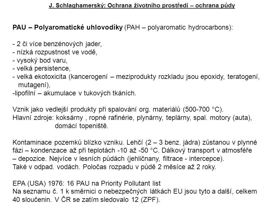 PAU – Polyaromatické uhlovodíky (PAH – polyaromatic hydrocarbons):