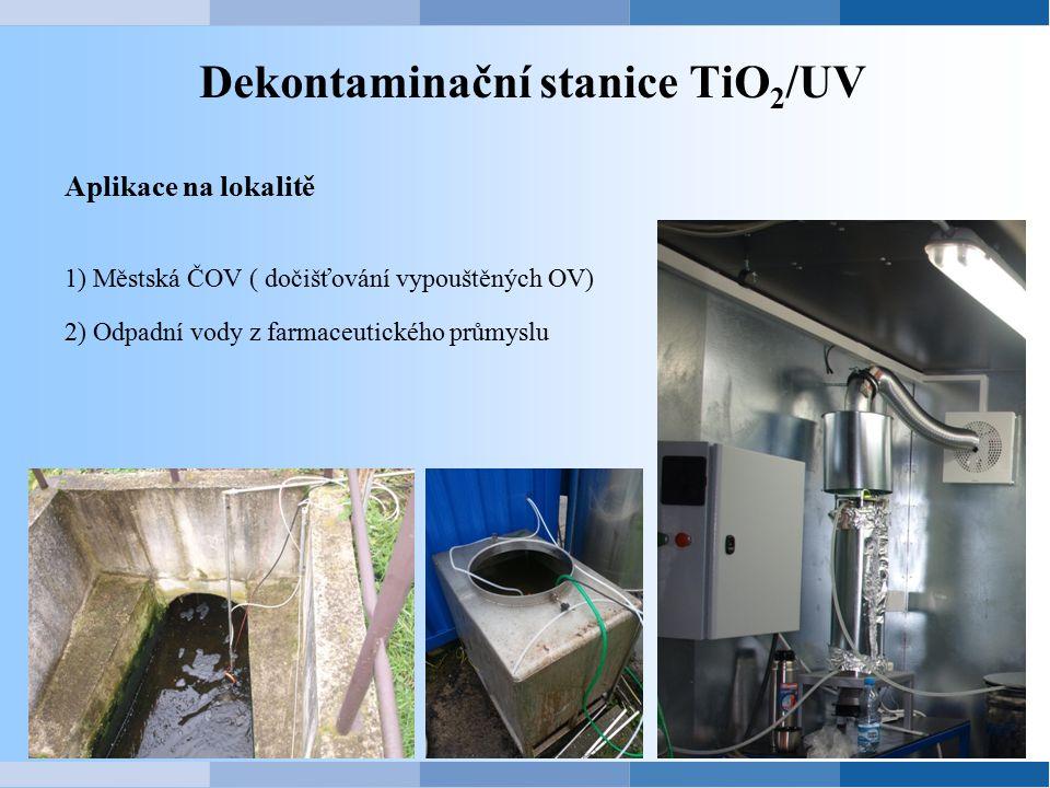 Dekontaminační stanice TiO2/UV