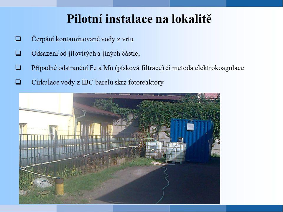 Pilotní instalace na lokalitě