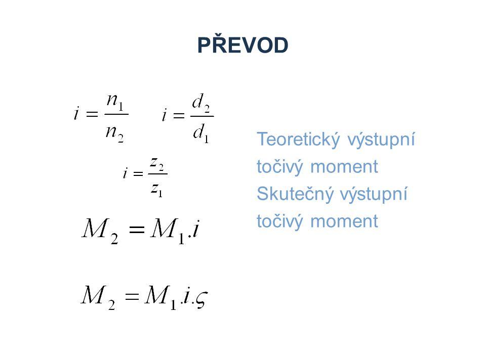 Zdroje Převod Teoretický výstupní točivý moment Skutečný výstupní