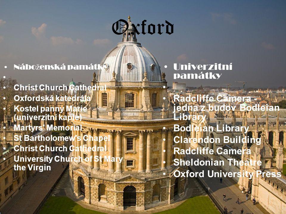 Oxford Univerzitní památky