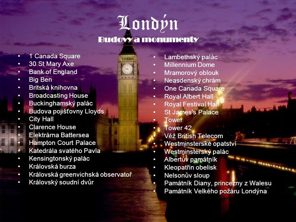 Londýn Budovy a monumenty