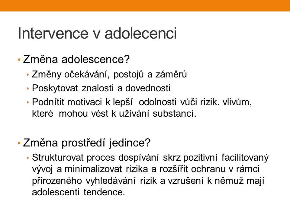 Intervence v adolecenci