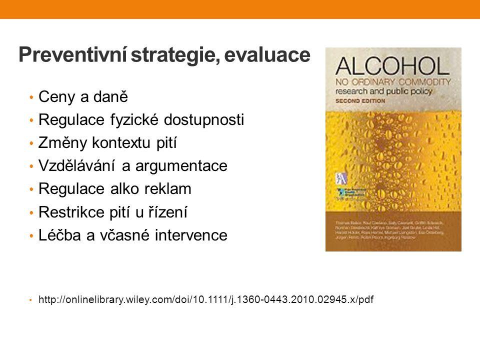 Preventivní strategie, evaluace