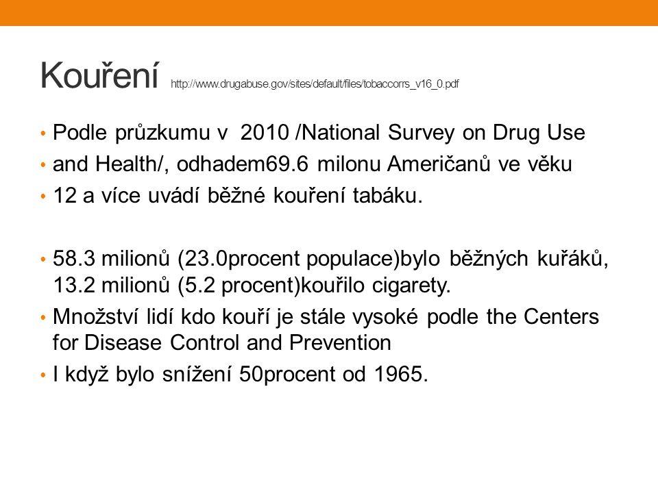Kouření http://www.drugabuse.gov/sites/default/files/tobaccorrs_v16_0.pdf