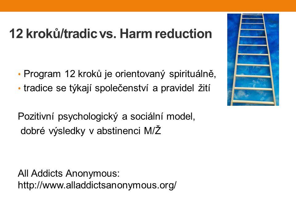 12 kroků/tradic vs. Harm reduction