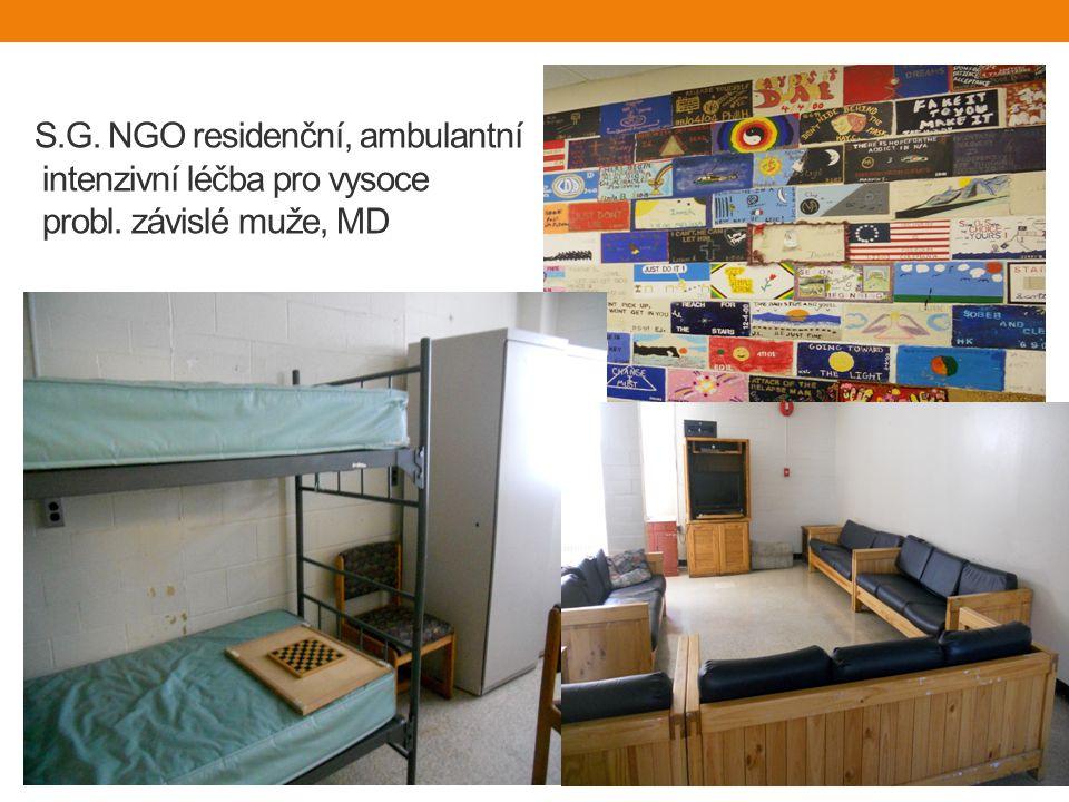 S. G. NGO residenční, ambulantní intenzivní léčba pro vysoce probl