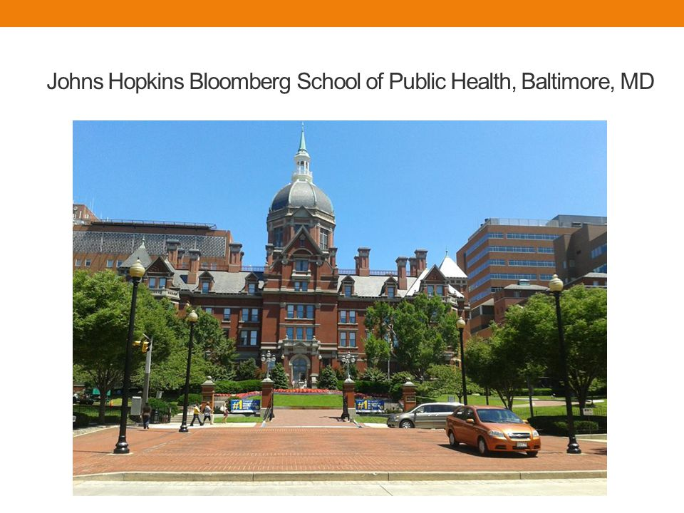 Johns Hopkins Bloomberg School of Public Health, Baltimore, MD