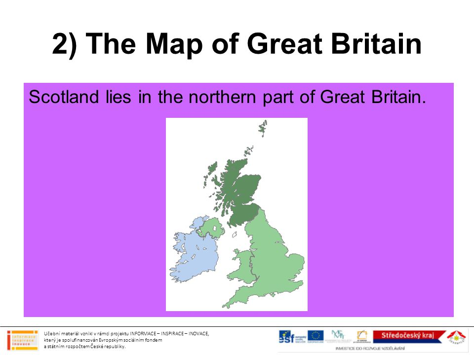 2) The Map of Great Britain