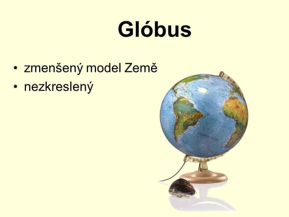 Glóbus zmenšený model Země nezkreslený