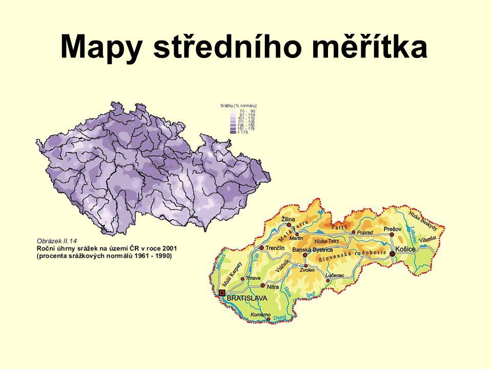 Mapy středního měřítka