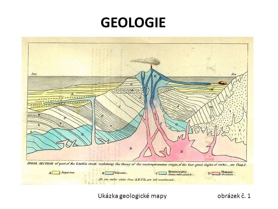 GEOLOGIE Ukázka geologické mapy obrázek č. 1