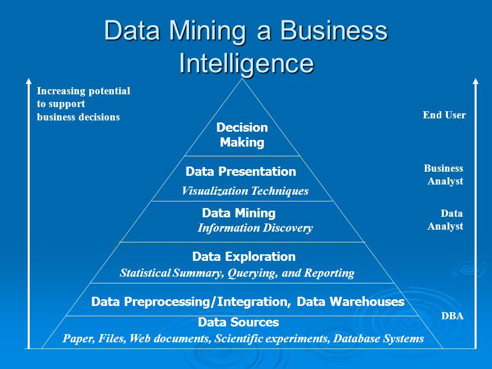 Data Mining a Business Intelligence