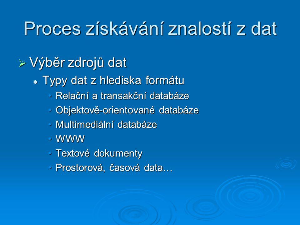 Proces získávání znalostí z dat