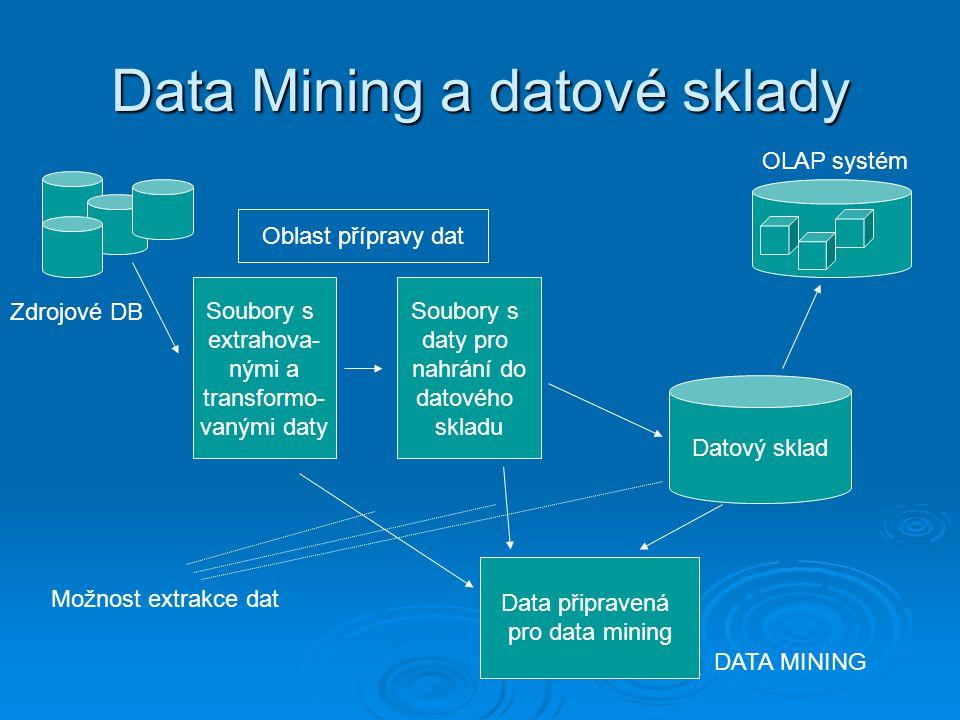 Data Mining a datové sklady