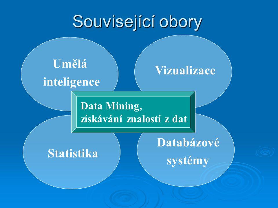 Související obory Umělá inteligence Vizualizace Databázové systémy