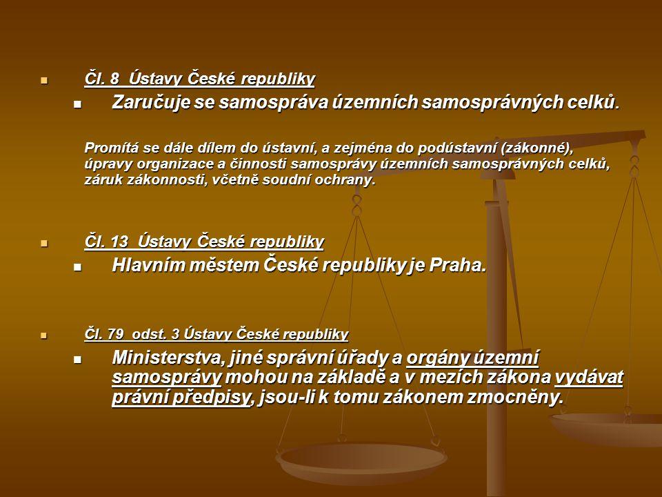 Zaručuje se samospráva územních samosprávných celků.