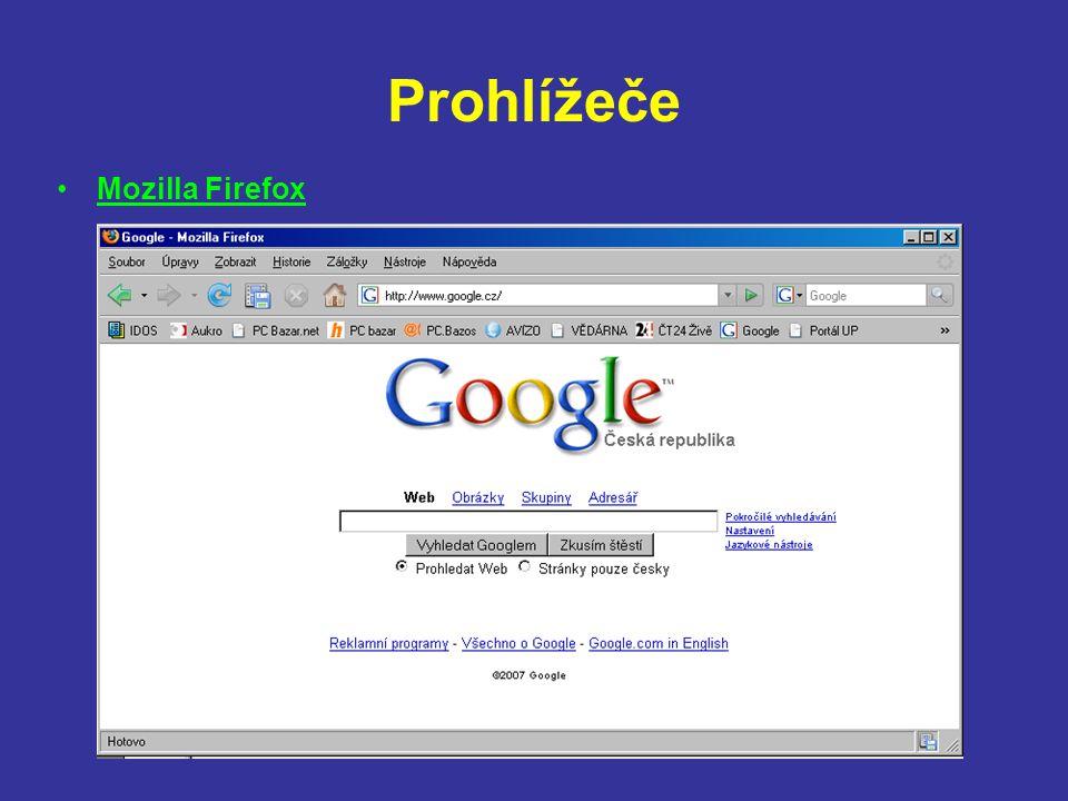 Prohlížeče Mozilla Firefox