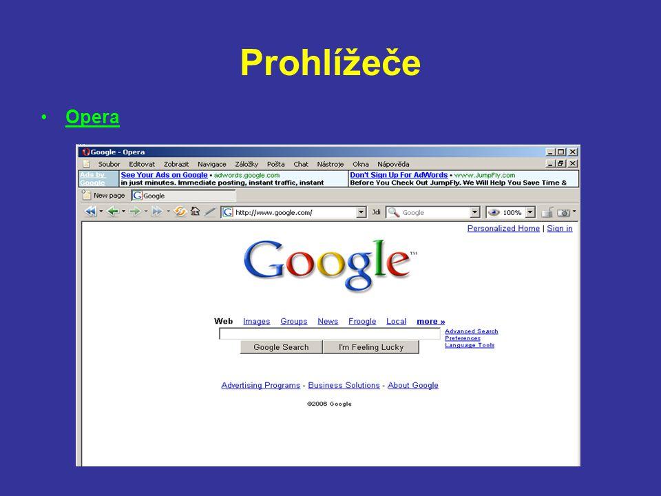 Prohlížeče Opera