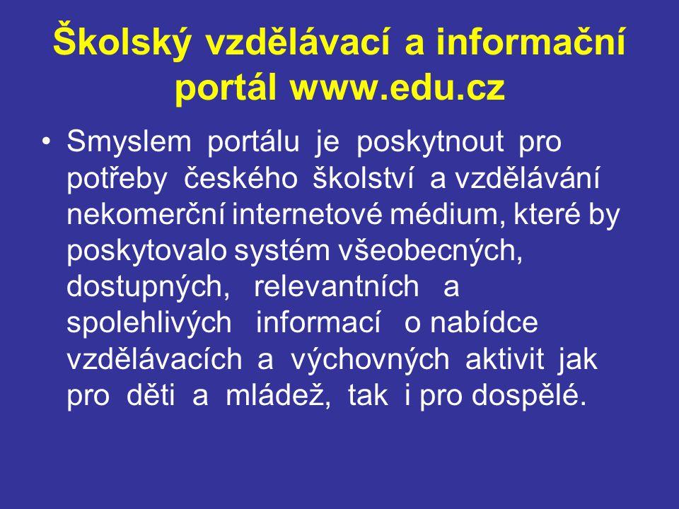 Školský vzdělávací a informační portál www.edu.cz