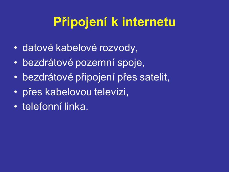 Připojení k internetu datové kabelové rozvody,
