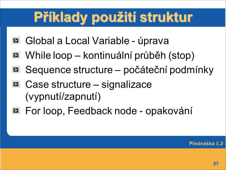 Příklady použití struktur