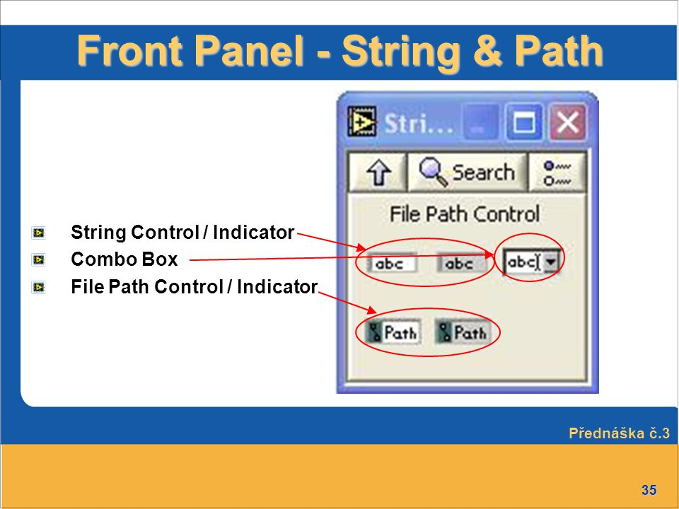 Front Panel - String & Path