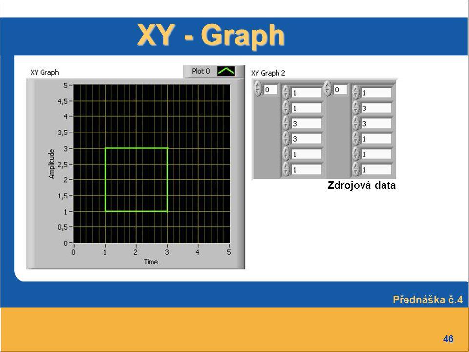 XY - Graph Zdrojová data Přednáška č.4
