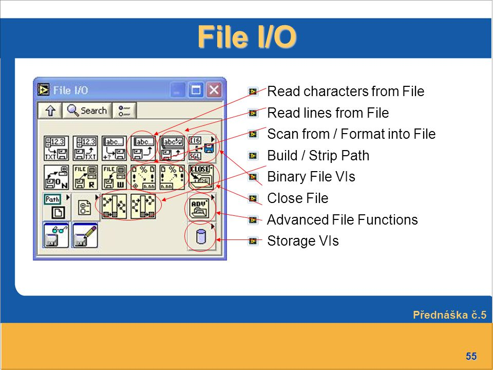 File I/O Read characters from File Read lines from File