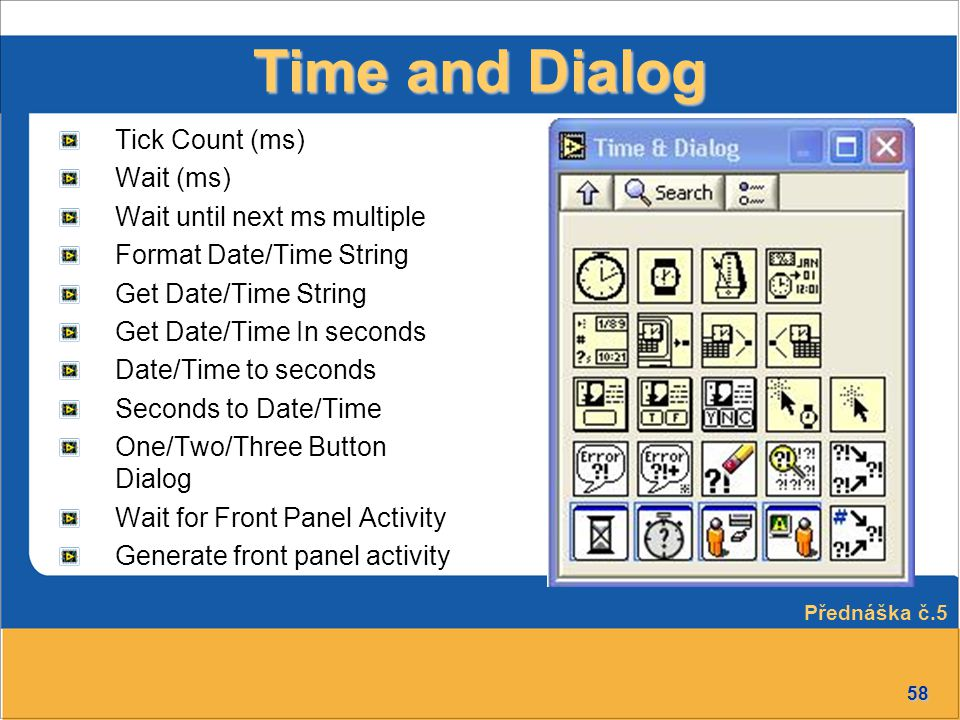 Time and Dialog Tick Count (ms) Wait (ms) Wait until next ms multiple