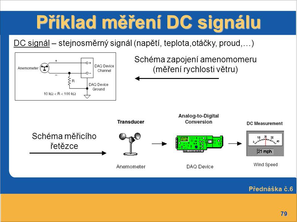 Příklad měření DC signálu