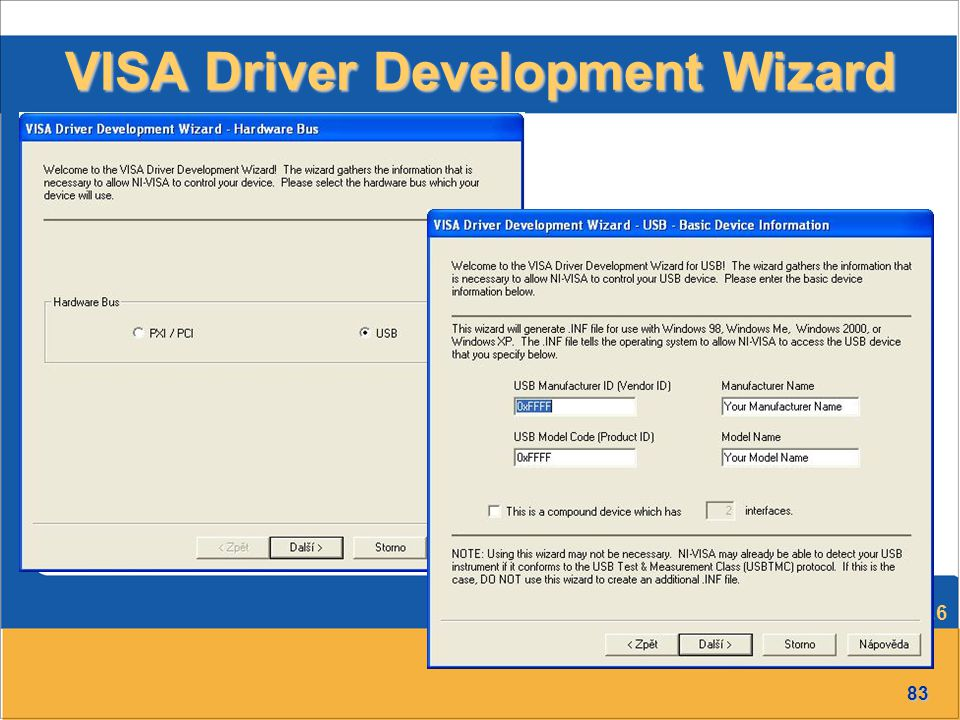 VISA Driver Development Wizard