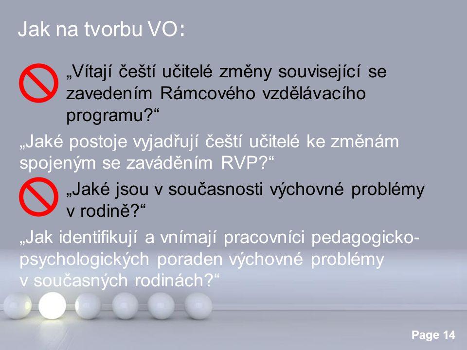 """Jak na tvorbu VO: """"Vítají čeští učitelé změny související se zavedením Rámcového vzdělávacího programu"""