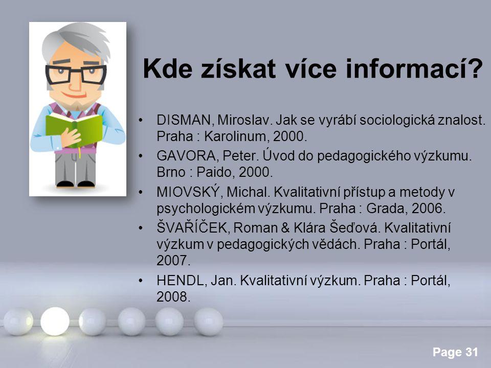 Kde získat více informací