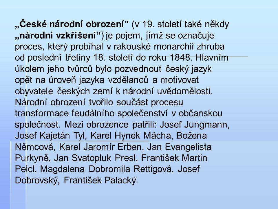 """""""České národní obrození (v 19"""