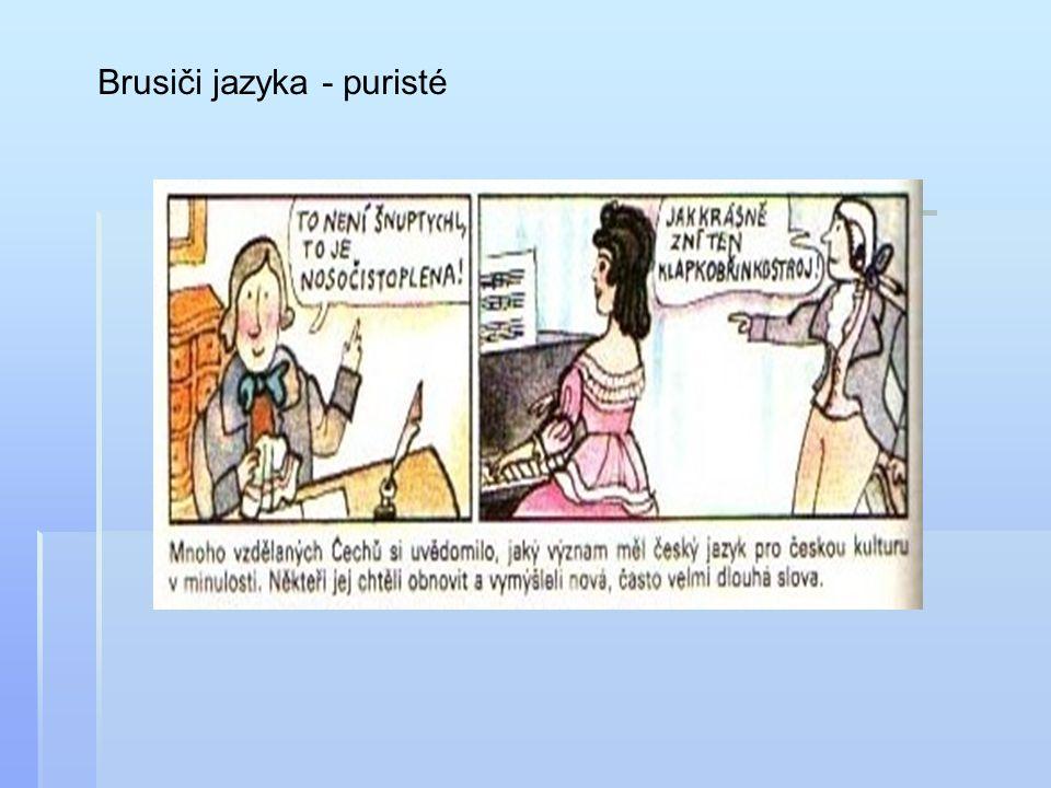 Brusiči jazyka - puristé