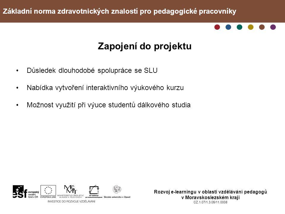 Základní norma zdravotnických znalostí pro pedagogické pracovníky