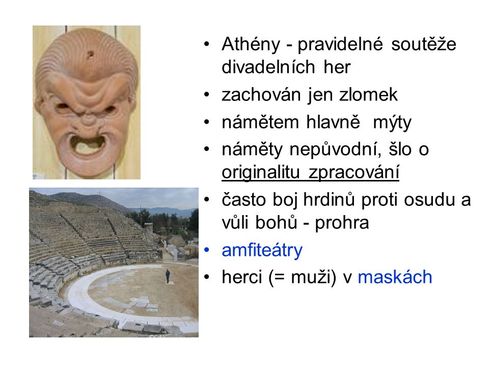 Athény - pravidelné soutěže divadelních her