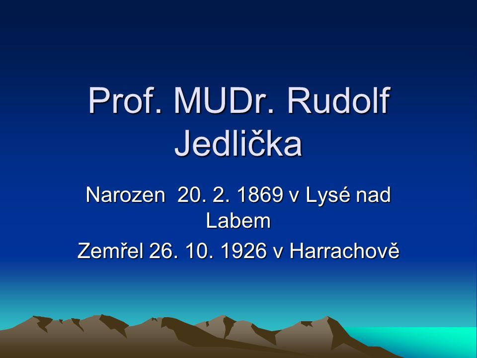 Prof. MUDr. Rudolf Jedlička
