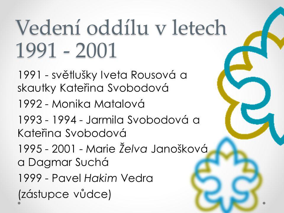 Vedení oddílu v letech 1991 - 2001