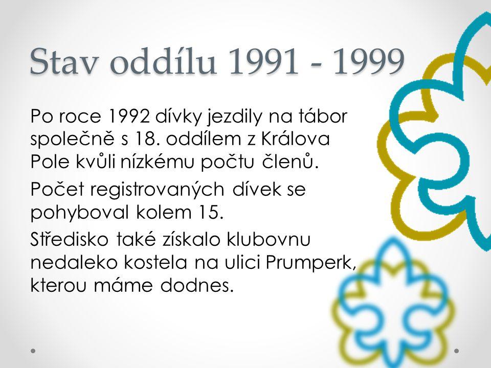 Stav oddílu 1991 - 1999