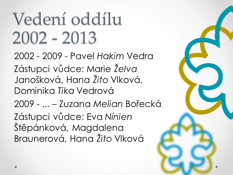 Vedení oddílu 2002 - 2013