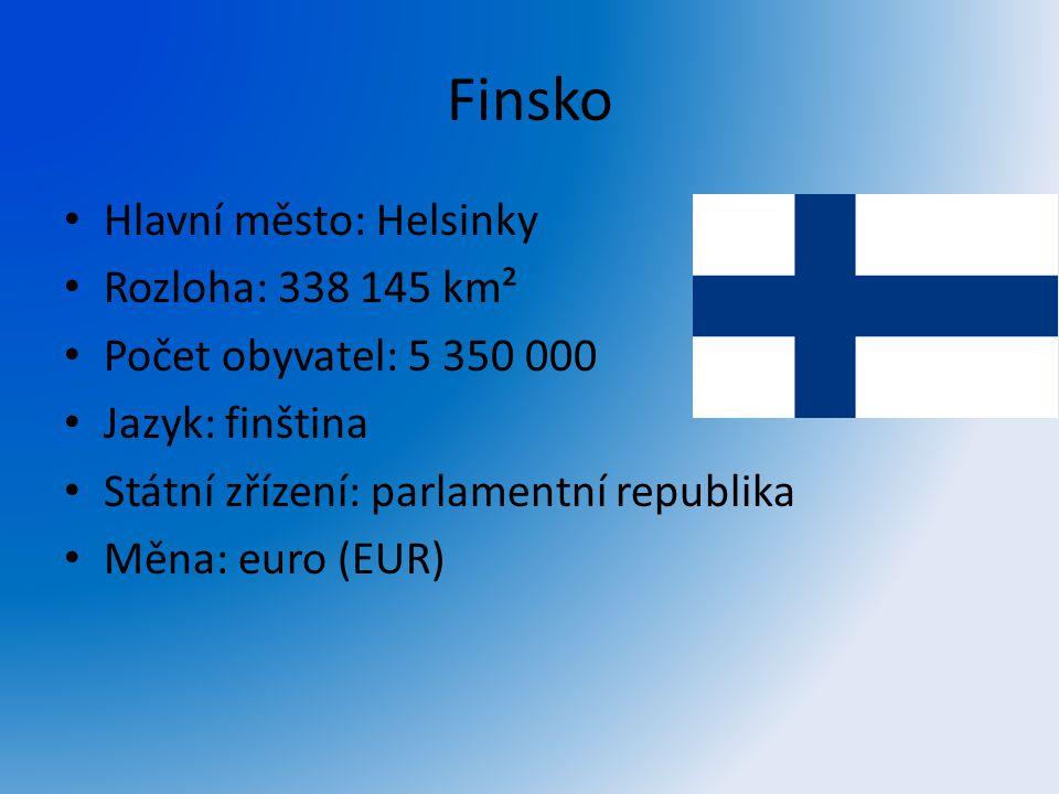 Finsko Hlavní město: Helsinky Rozloha: 338 145 km²