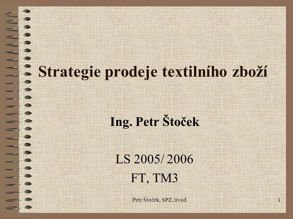 Strategie prodeje textilního zboží